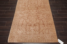 4'x6' Tan Beige Color Hand Knotted Persian Oriental Area Rug Wool Traditional Oriental Rug