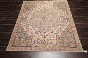 "3'7""x4'6"" Emerald Tan Rose, Brown, Multi Color Hand Knotted Persian Oriental Area Rug Wool Traditional Oriental Rug"