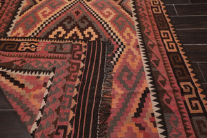 "4'10""x8'6"" Rust Chocolate Beige, Grey, Multi Color Hand Woven Persian Oriental Area Rug Wool Traditional Oriental Rug"