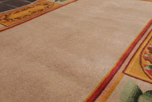 "3'9""x5'9"" Taupe Gold Aqua, Rust, Green,Multi Color Hand Knotted Tibetan Oriental Area Rug Wool Traditional Oriental Rug"