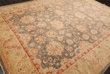 10'x14' Ivory Rose Pink, Green, Brown, Lavender, Multi Color Hand Woven Flatweave Area Rug Wool Traditional Oriental Rug