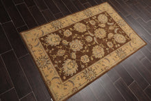 "3'6""x5'6"" Brown Tan Grey, Muted Earth Tones Color Machine Made Persian Oriental Area Rug Wool & Art Silk Traditional Oriental Rug"