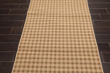 "3'9""x5'11"" Tan Black Color Machine Made Area Rug Wool Contemporary Oriental Rug"