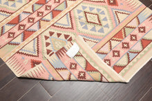 "3'9""x5'9"" Beige B Rust, Pink, Blue, Green, Multi Color Hand Woven Persian Oriental Area Rug Wool Traditional Oriental Rug"