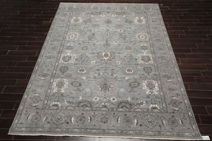 "7' x 8'6"" Hand Knotted Auth. Turkish Wool Sarouk Not Replica Oriental Area Rug"