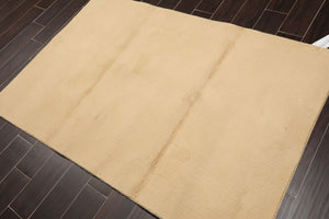 4'x6' Beige Color Machine Made  Area Rug Wool Modern Oriental Rug