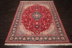 10x14 Aqua, Tan, Blue Color Hand Knotted Persian 100% Wool Floral Traditional 200 KPSI Oriental Rug