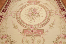 9' x 12' Asmara Hand Woven 100% wool French Aubusson Area Rug 9x12 Traditional