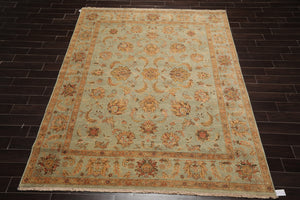 10x14  Hand Knotted Beige, Wine, Aqua Color Persian 100% Wool Traditional Oriental Rug