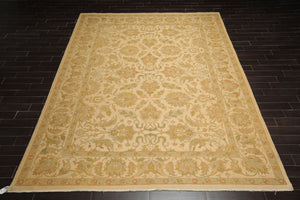 10x14 Hand Knotted Soumak Gold, Green, Rust Color Persian 100% Wool Traditional Oriental Rug