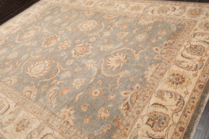 "8'x11'6"" Hand Knotted Peshawar Stone Wash Stone Wool Persian Oriental Area rug"
