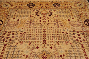 8'x8' Black  Tan  Burgundy, Grey, Multi Color Hand Knotted Persian Oriental Area Rug 100% Wool Traditional Oriental Rug