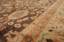10x14 Hand Knotted Brown, Beige, Rust Color Persian 100% Wool Oushak Traditional Oriental Rug