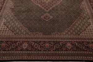 10x14 Hand Knotted Ivory, Moss, Maroon Color Persian 100% Wool Oushak Traditional Oriental Rug