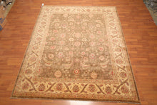 "8'3"" x 10' Hand Knotted Wool Peshawar Tea Wash with Silky Sheen Persian Area Rug"