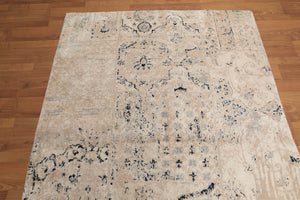 "8'2"" x 10'5"" Peshawar Hand Knotted Tea Wash Wool Persian Oriental Area Rug"