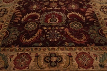 9x12 Maroon, Tan, Gold Color Hand Knotted Persian 100% Wool Arts and Craft Traditional Oriental Rug