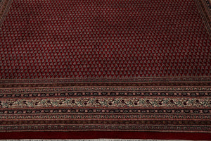 10x14 Red, Ivory, Rose Color Hand Knotted Persian 100% Wool Paisley Traditional Oriental Rug