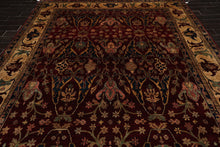 9x12 Burgundy, Maroon, Gold Color Hand Knotted Persian 100% Wool Bidjar Traditional Oriental Rug