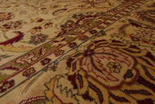 10x14 Gold, Burgundy, Sage Color Hand Knotted Persian 100% Wool Lurs Traditional Oriental Rug