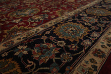 10x14 Maroon, Navy, Beige Color Hand Knotted Persian 100% Wool Tabriz Traditional Oriental Rug