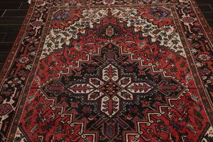 6x9 Rust, Ivory, Charcoal Color Hand Knotted Persian 100% Wool Traditional Oriental Rug