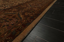 9x12 Warm Beige, Brown, Rust Color Hand Knotted Persian 100% Wool Traditional 200 KPSI Oriental Rug