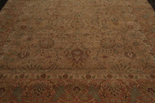 9x12 Tan, Rust, Aqua Color Hand Knotted Persian 100% Wool Agra Traditional Oriental Rug