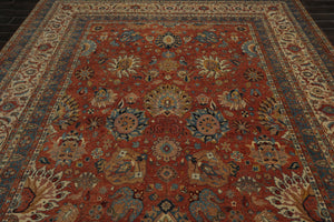 8' x 11'9' Hand Knotted 100% Wool 150 KPSI Oushak Persian Oriental Area Rug