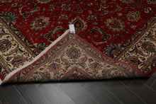 9x12 Red, Beige, Black Color Hand Knotted Persian 100% Wool Tabriz Traditional Oriental Rug