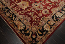 9x12 Rusty Red, Charcoal, Beige Color Hand Knotted Persian 100% Wool Peshawar Traditional Oriental Rug