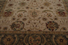 9x12 Beige, Moss, Light Gold Color Hand Knotted Persian 100% Wool Agra Traditional Oriental Rug