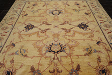 9x12 Gold, Blue, Rust Color Hand Knotted Persian 100% Wool Art and Crafts Peshawar Traditional Oriental Rug