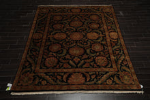 8x10 Black, Gold, Sage Color Hand Knotted Persian 100% Wool Agra Traditional Oriental Rug