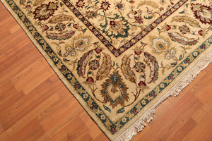 "8'11""x11'5"" Gold Maroon Aqua, Rust, Brown, Green, Multi Color Hand Knotted Persian Oriental Area Rug 100% Wool Traditional Oriental Rug"