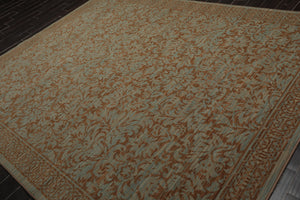 8x10 Aqua, Brown Color Persian 100% Wool Traditional Oriental Rug