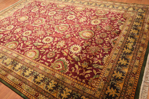 "9'1"" x 12'5"" Hand Knotted Agra Tea Wash 100% Wool Persian Oriental Area Rug"
