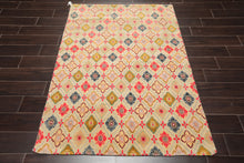 3' 11''x5' 8''Hand Knotted Wool Oriental Area Persian Rug