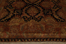 8x10 Black, Gold, Rust Color Hand Knotted Persian 100% Wool Agra Traditional Oriental Rug