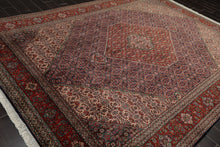 8x10 Navy, Rust, Ivory Color Hand Knotted Persian 100% Wool Tabriz Traditional Oriental Rug