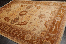 8x10 Beige, Tan, Brown Color Hand Knotted Persian 100% Wool Peshawar Traditional Oriental Rug