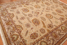 "9'2"" x 11'10"" Hand Knotted Wool 200 KPSI Masterpiece Agra Persian Area Rug"