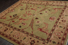 8x10 Sage, Taupe, Rose Color Hand Knotted Tibetan 100% Wool Arts and Craft Traditional Oriental Rug
