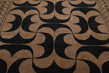 8x10 Taupe, Brown, Black Color Hand Knotted Tibetan 100% Wool Art Deco Modern & Contemporary Oriental Rug