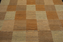 8x10 Beige, Brown, Gray Color Hand Knotted Tibetan 100% Wool Modern & Contemporary Oriental Rug