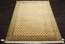 8x10 Tan, Brown, Green Color Hand Knotted Tibetan 100% Wool Modern & Contemporary Oriental Rug