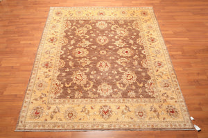 "8'1""x9'11"" Hand Knotted Peshawar Stone wash 100% Wool Persian Oriental Area Rug"