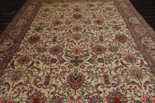 9x12 Hand Knotted Persian 100% Wool Traditional Oriental Area Rug Beige, Rose Color
