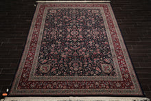 9x12 Hand Knotted Persian 100% Wool Traditional 300 KPSI Oriental Area Rug Navy, Burgundy Color