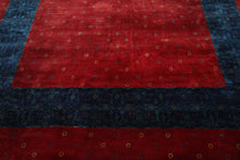 8x10 Hand Knotted Persian 100% Wool Gabbeh Traditional 250 KPSI Oriental Area Rug Red, Blue Color